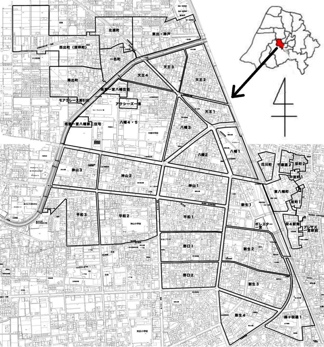 神山連区マップ